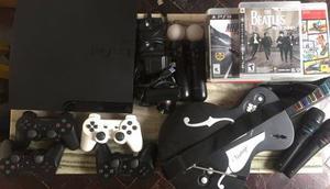 Playstation  Gb - 4 Joystick - 2 Move - 16 Juegos Y +