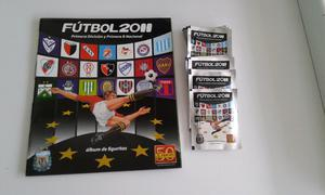 Vendo lote de 50 sobres llenos de figuritas de fútbol