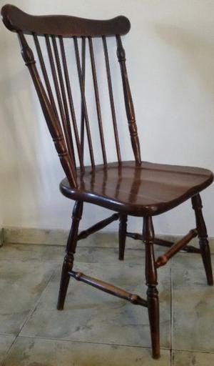 2 sillas americanas windsor madera roble macizo antiguas