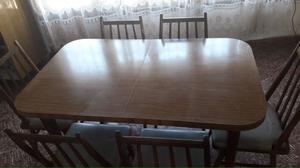 Juego de comedor - mesa con 6 sillas