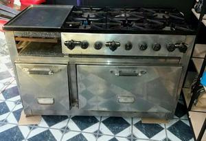 Cocina Industrial 6 Hornallas Con Plancha Y Freidora