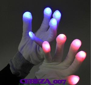 PAR DE GUANTES CON LUCES LED LUCES MULTICOLOR COTILLON