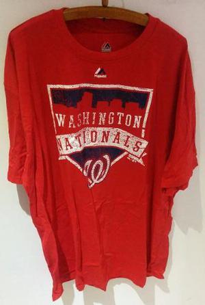 Remera Beisbol Mlb Majestic Washingston Nationals 4xl Grande