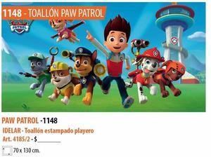 Toallón Playero Paw Patrol