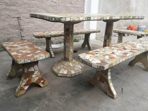 Banco y mesa para jardin posot class - Banco de jardin ...