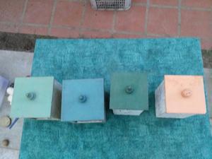Cajas de madera con tapa craquelada