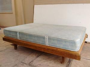 Cama de 2 plazas con colchón