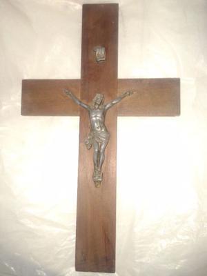 Cruz De Madera 53 X 32 Con Imagen De Jesus Perfecta