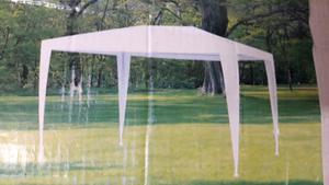 Gazebo 2x3 mts 100% polietileno color blanco Oferta