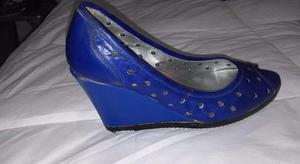 Zapatos de cuero azul número 38