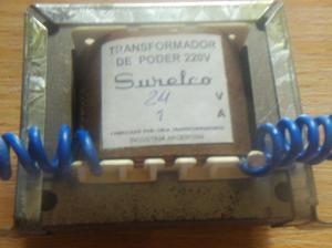 transformador 220 v a 24 volts 1 ampere surelco -- AUDIOMAX