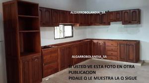Alacena De Algarrobo-bajomesada-primera Calidad Medio Metro