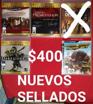 Juegos de PS3 Nuevos sellados