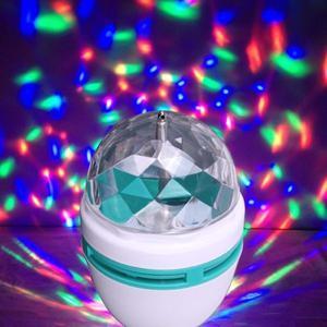 Lampara Giratoria LED de colores + Adaptador - Por Mayor--