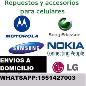 Repuestos y accesorios para celulares