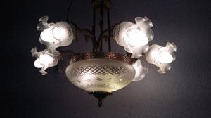 Araña en bronce 8 luces