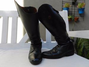 Botas de Equitación de Cuero negras