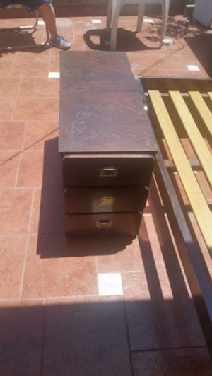 Cama de 1 plaza con cajonera/baulera usada