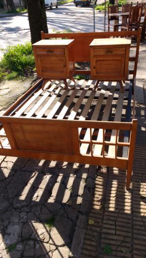 Cama de 2 plazas en madera de Roble