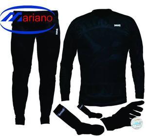 Combo Remera+calza+guantes+medias Termicas Y Primera Piel