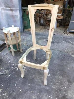 Estructura de sillon para tapizar