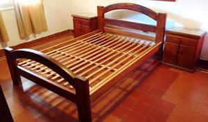 Juego de Dormitorio Algarrobo Macizo Rustico