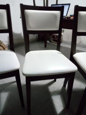 Juego de sillas madera tapizadas ¡Oportunidad!