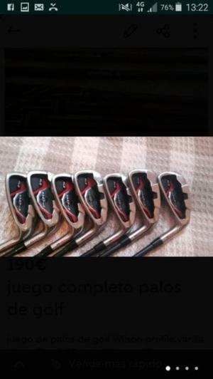 Juego palos de golf seminuevos