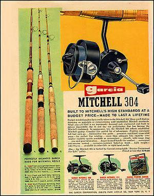 Reel García Mitchell 304 de colección.