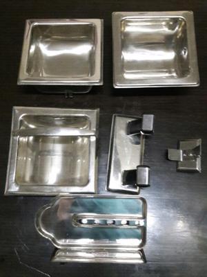 Jabonera acero inoxidable o porta sepillos de posot class for Set de bano acero inoxidable