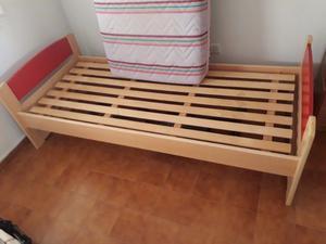 VENDO Colchon, cama 1 plaza y meza de luz