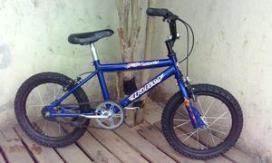bicicleta halley 4x4 rodado 16 azul excelente estado !
