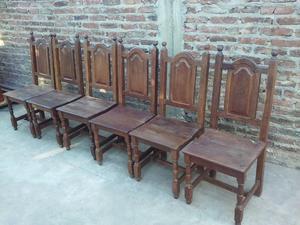 juego de 6 sillas de algarrobo
