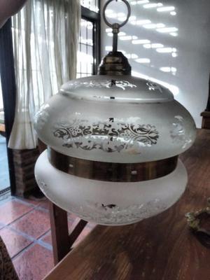 lampara colgante de vidrio tallado
