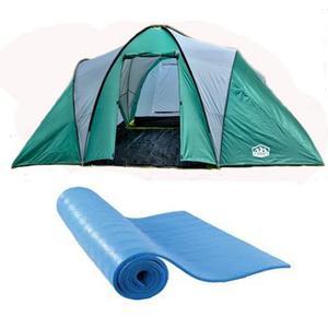 Carpa Familiar 8 - 9 Pers 4 Ambientes Camping Base Aislante