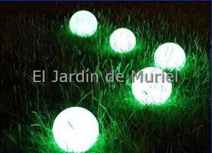 Esferas Led Bola Luminosas Varios Colores De Luz Con Pilas