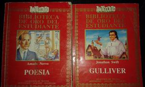 Libros de anteojito y enciclopedia escolar