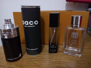 Lote de tres frascos de perfume vacíos