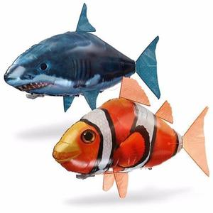 Pez Payaso o Tiburón Volador Inflable con Helio a Control
