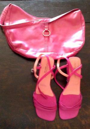 Sandalias y cartera de mujer