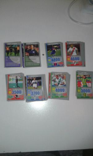 Vendo lote de 162 tarjetones diferentes de fútbol