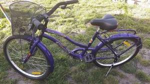 bicicleta playera rodado 24 de niña usada
