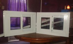 vendo ventiluz corredizo de aluminio, con vidrio y