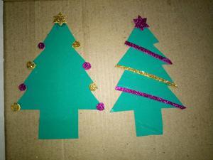 Adornos navideños en goma eva