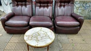 Antiguo sillón de 3 cuerpos