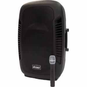 Bafle Potenciado Apogee Smx-215 Con Microfono Inalambrico!