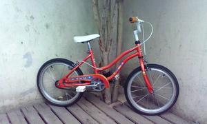 Bicicleta Musetta Naranja Rodado 16 Unisex Lista Para Usar