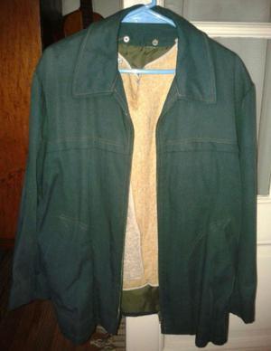 Campera de tela Verde