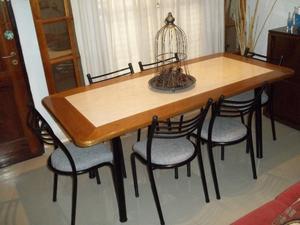 Hermosa Mesa y 6 sillas reforzadas !! ♥ Envío gratis !!