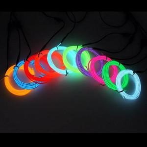 Hilo De Neon Led Luz Fria Luminoso Electroluminiscente
